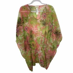Collection Eighteen coverup tunic floral NWT
